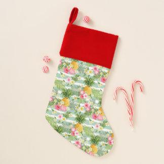 花及びパイナップルティール(緑がかった色)は縞で飾ります クリスマスストッキング