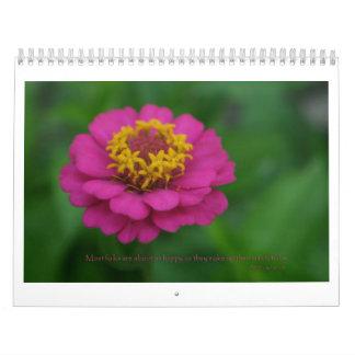 花及び引用文のカレンダー カレンダー