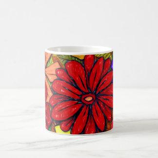 花及び葉#3 コーヒーマグカップ