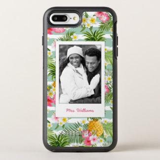 花及びPineapple|はあなたの写真を加えましたり及び示します オッターボックスシンメトリーiPhone 8 Plus/7 Plusケース
