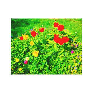 花園のチューリップII キャンバスプリント