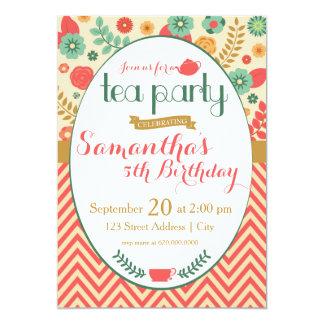 花園の茶パーティの招待状 カード