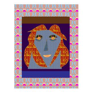 花型女性歌手のおもしろいのガールフレンドLaila Kusum NVN41 NavinJOSHI ポストカード