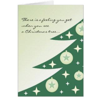 花型女性歌手のクリスマスツリーカード カード