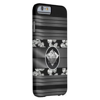 花型女性歌手のダイヤモンド BARELY THERE iPhone 6 ケース