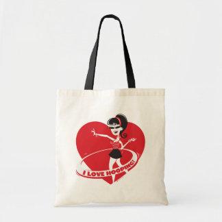 花型女性歌手のトートバック トートバッグ