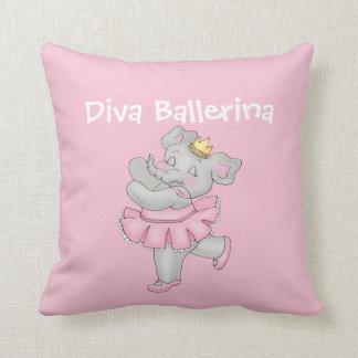 花型女性歌手のバレリーナのピンク クッション