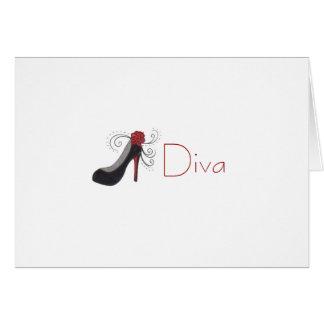 花型女性歌手の挨拶状 カード
