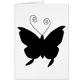 花型女性歌手の蝶 グリーティングカード