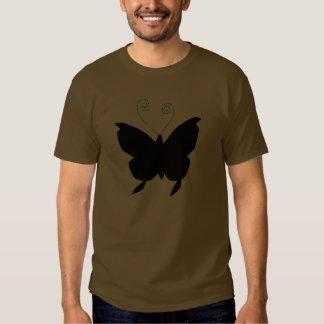 花型女性歌手の蝶 シャツ