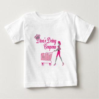 花型女性歌手はクーポンをします ベビーTシャツ