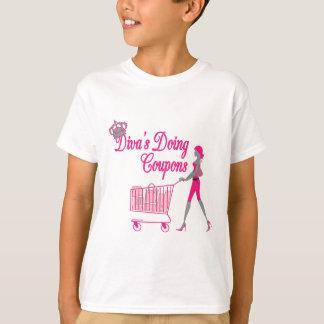花型女性歌手はクーポンをします Tシャツ