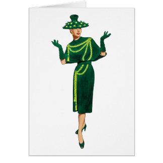 花型女性歌手はファッショニスタカードです カード