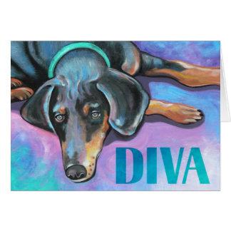 花型女性歌手犬 カード