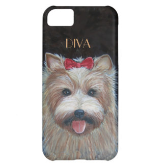 花型女性歌手犬 iPhone5Cケース