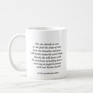 花型女性歌手雨マグ コーヒーマグカップ