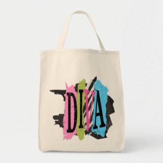 花型女性歌手-オーガニックな食料雑貨のトート トートバッグ