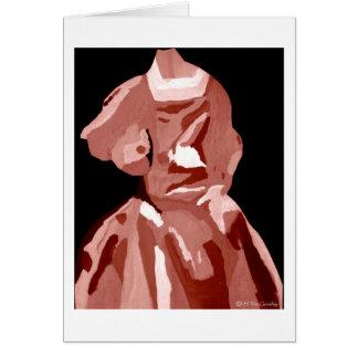 花型女性歌手 ファッショニスタ 中立 グリーティングカード