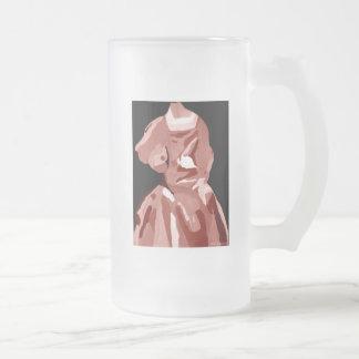 花型女性歌手|ファッショニスタ|中立 コーヒーマグ