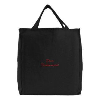 花型女性歌手 ファッショニスタ 刺繍される バッグ 刺繍入りトートバッグ