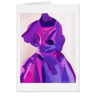 花型女性歌手 ファッショニスタ 青い グリーティングカード
