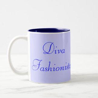 花型女性歌手 ファッショニスタ 青い I コーヒーマグカップ