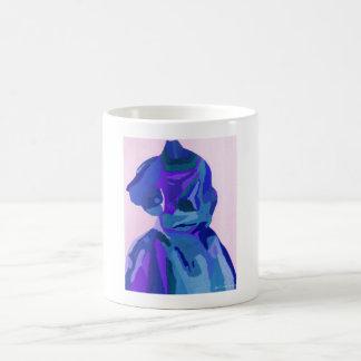 花型女性歌手 ファッショニスタ 青い I ベーシックホワイトマグカップ