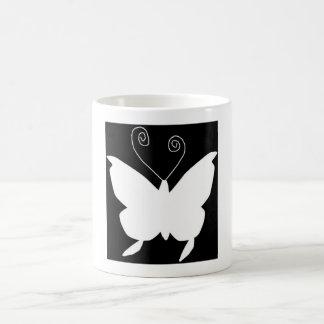 花型女性歌手 蝶 ベーシックホワイトマグカップ