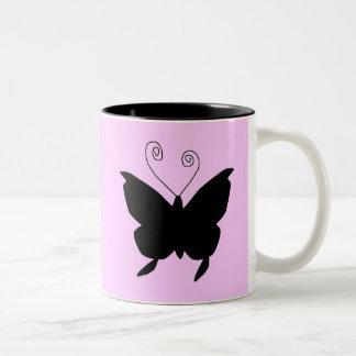 花型女性歌手|蝶 マグカップ