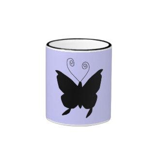 花型女性歌手 蝶 リンガーマグカップ