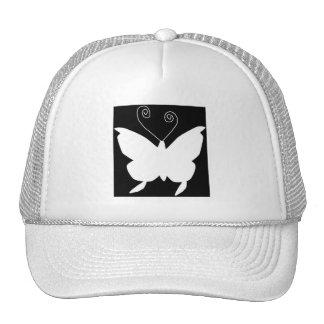 花型女性歌手 蝶 帽子