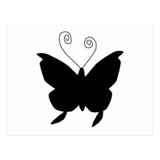 花型女性歌手|蝶 葉書き