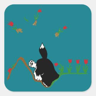 花壇のハスキー スクエアシール