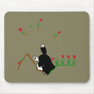 花壇のハスキー マウスパッド