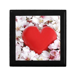 花壇の赤いハート ギフトボックス
