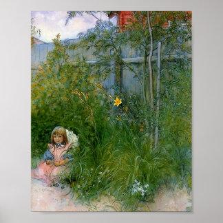 花壇のBrita ポスター