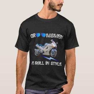 花婿の付添人のためのギフト Tシャツ