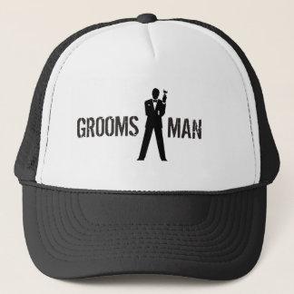 花婿の付添人のパーティーの帽子 キャップ