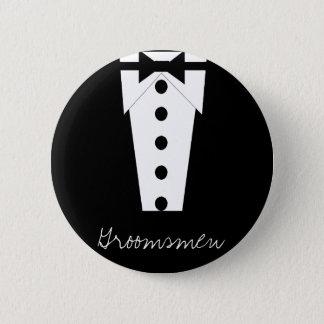 花婿の付添人ボタン 缶バッジ