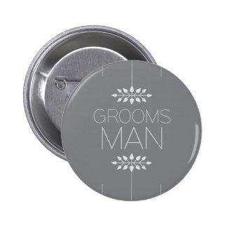花婿の付添人ボタン 5.7CM 丸型バッジ