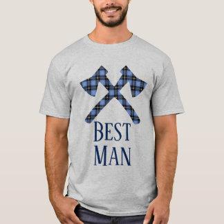 花婿介添人の樵の二重十字の斧 Tシャツ