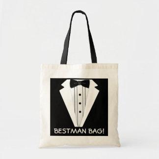 花婿介添人の結婚式のタキシード トートバッグ