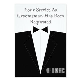 花婿介添人または花婿の付添人の招待 カード