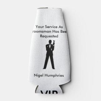 花婿介添人または花婿の付添人の招待 ボトルクーラー