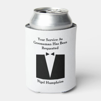 花婿介添人または花婿の付添人の招待 缶クーラー