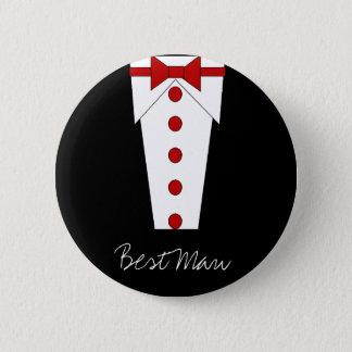 花婿介添人ボタン(赤い) 缶バッジ