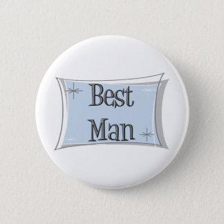 花婿介添人ボタン 5.7CM 丸型バッジ