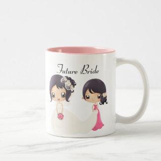 花嫁およびメイド・オブ・オーナー(花嫁付き添い人) ツートーンマグカップ