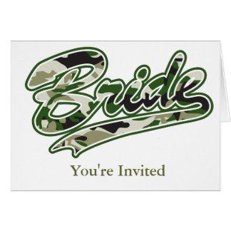 花嫁か軍の緑のカムフラージュ カード