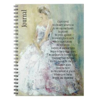 花嫁が付いている祈りの言葉ジャーナル ノートブック